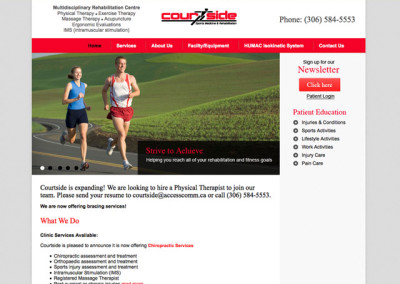 Courtside Physical Therapy Website