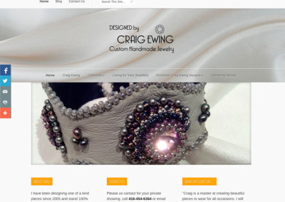 Craig Ewing Custom Jewelry Website