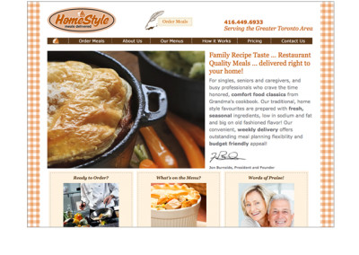 Home-Style Meals Website