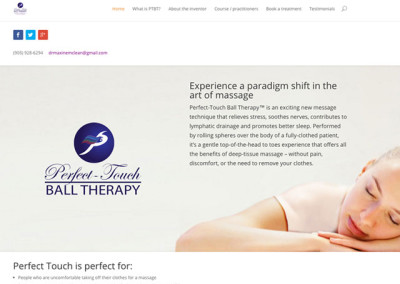 Perfect Touch Ball Therapy Website