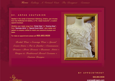 SV Arpas Couture Website